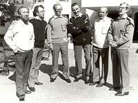 1985. William Hall, Andro Lehmus, Nikolai Samsonov, Ensio Vento, Orvo Björninen and Pauli Rinne